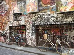 Melbourne lane ways  graffiti art walk