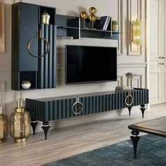 Living Room Wall Designs, Home Living Room, Living Room Decor, Bedroom Decor, Bedroom Bed Design, Home Room Design, Home Interior Design, Luxury Furniture, Furniture Design