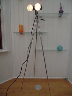 70's PHOTO STUDIO LAMP, Vintage FLOOR TWIN SPOT LIGHT, Retro CHROME TABLE TRIPOD in Dom i Meble, Oświetlenie, Lampy | eBay