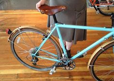 Portland-based Clever Cycles partner Martina Fahrner's customized wheels. clevercycles.com