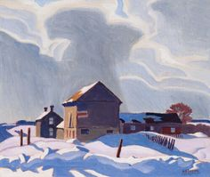 A.J. Casson - Storm Clouds 9.5 x 11.25 Oil on board (1943) Tom Thomson, Group Of Seven, Fine Art Auctions, Storm Clouds, Cloud 9, Winter Landscape, Art Of Living, Country Christmas, Landscape Paintings