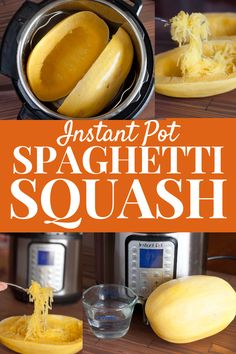 This Instant Pot Spaghetti Squash recipe is a fast and easy fall vegetable side dish that is low calorie and low carb, making it a great food for weight loss!