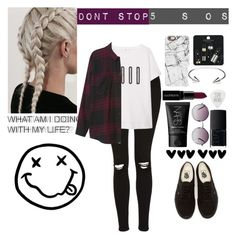 """""""Don't Stop"""" by obrien91 ❤ liked on Polyvore featuring Topshop, MANGO, Monki, Vans, Casetify, CC SKYE, Smashbox and NARS Cosmetics"""