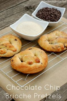 Chocolate Chip Brioche Pretzels    by a-kitchen-addiction #Pretzels #Brioche #Chocolate_Chip