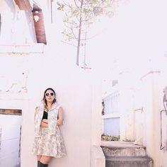 a linda @luisareiff com look de moletom estampado da JARDIN. @use_jardin…