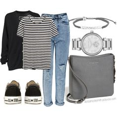 """""""Casual School Outfit"""" by alyssanicolesmith on Polyvore"""