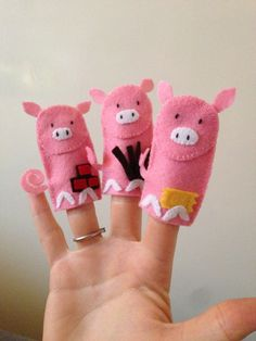 The Three Little Pigs finger puppets #felt #homemade