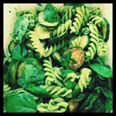 Olive deli does Ottolenghi pasta and fried courgette