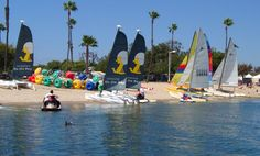 Campland by the Bay- Mission Bay, San Diego. Great campground and learn to sail!