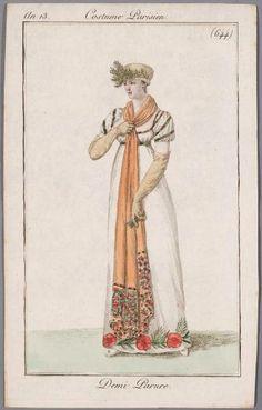 A long orange stole an 13 Costume parisien