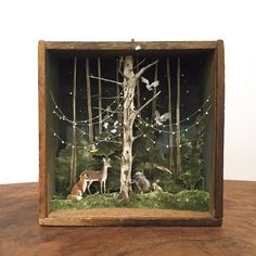 diorama ideas Throwback to this little creature conference. One of two pieces in Enough To Swear By, an exhibition of miniature art at Transylvania Shadow Box Kunst, Shadow Box Art, Altered Tins, Altered Art, Arte Pop Up, Paper Art, Paper Crafts, Assemblage Art, Nature Crafts
