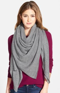 Free shipping and returns on Halogen® Oversize Cashmere Scarf at Nordstrom.com. Lush heathered cashmere lends delicious softness to a cozy, casually sophisticated scarf.
