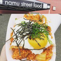 Downtown Campbell: Mmm... Kimchi fried rice... Thanks On-Site! #onsitedotcom #namustreetfood #kimchifriedrice by njkhairy