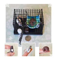Tiny Cage and Three Dime Rats~ Cookie Commission by nEVEr-mor.deviantart.com on @DeviantArt