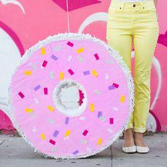 DIY Donut Piñata - Get the full photo tutorial on how to make this fun donut pinata.