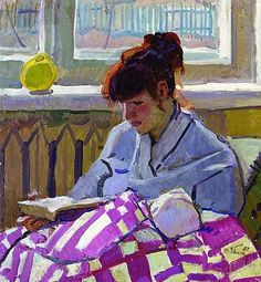 """""""Reading"""", 1982 / Tatiana Yablonskaya (1917-2006)"""