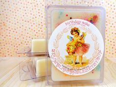 Birthday Cake Soy Wax Melt Hand Poured in by brumaliacandles, $4.00