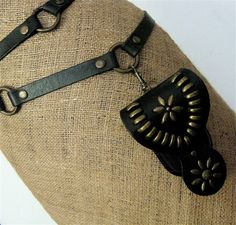 Black Belt Double Wrap Adjustable with Detachable by karenkell