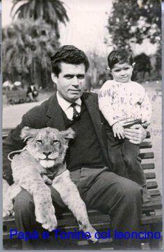 Papà con Tonino all'ex Zoo di Roma