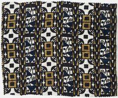 Wiener Werkstatte, Vienna, Austria, 1903-1932; portfolio containing sample textile.