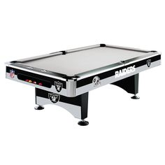 Oakland Raiders 8Ft Pool Table By Imperial
