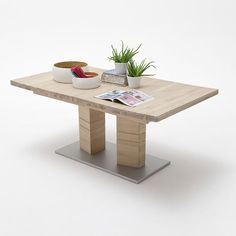 Cuneo Extendable Dining Table Rectangular In Bianco Oak 2516