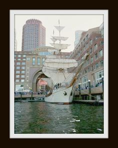 Tall Ships in Boston Harbor @ Rowes Wharf.  Used to love to walk around here when I lived there.