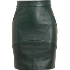 T BY ALEXANDER WANG Leather Pencil Skirt ($886) via Polyvore