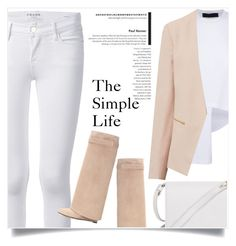"""The Simple Life"" by captainsilly ❤ liked on Polyvore featuring Frame Denim and Furla"