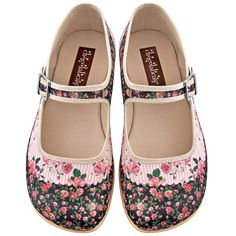 Hot Chocolate Design Chocolaticas Pandora Women's Mary Jane Flat ❤ liked on Polyvore featuring shoes, flats, chocolate brown flats, chocolate brown flat shoes, flat mary janes, mary jane flat shoes and mary-jane shoes
