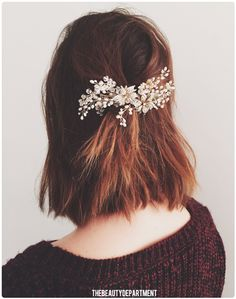 add a sparkly pin or comb accessory to make this half updo holiday ready! see the steps on thebeautydepartment.com