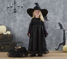 Toddler Black Witch Costume | Pottery Barn Kids. Cutest little witch costume.