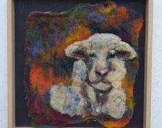 Creative Wool Work, Original and Handmade Designs by FairylandIreland Felt Art, Handmade Design, Moose Art, Etsy Seller, Wool, The Originals, Creative, Painting, Animals