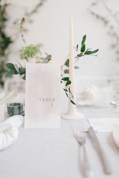 minimal and organic wedding table styling - photo by Julien Bonjour Photographe http://ruffledblog.com/airy-industrial-wedding-inspiration-for-spring