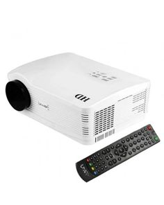 Uhappy U3 HD 1080P 3000LM Home Theater 1280*800 Projector for Video Games TV Movie, Support USB + 3D + HDMI + YPbPr + TV + AV + S-Video + VGA(White)
