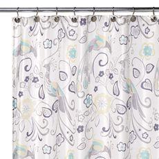 Peacock shower curtain!