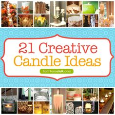 21 Creative Candle Ideas to #DIY as the days start getting shorter!