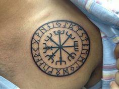 Viking vegvisir tattoo #viking #tattoo #vegvisir