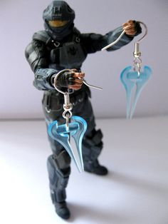 Halo energy sword earrings