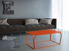 Tavolino design tondo moderno in metallo verniciato l cm