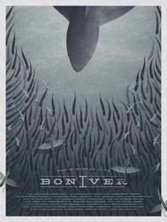 Bon Iver 2012 European Tour poster design.