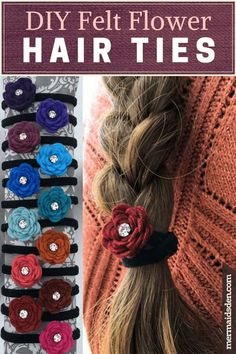 DIY felt flower hair