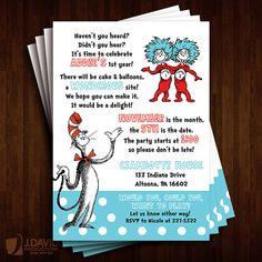 Dr. Seuss Birthday Invitations Children's by JDavidProductions