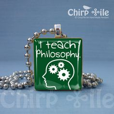 I Teach Philosophy Jewelry Pendant Charm Made From Scrabble Wooden Tile at Etsy.