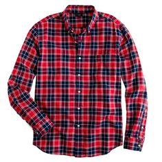 Oxford PLAID shirt in leaf red    --I like all of the plaid ones in basically every color