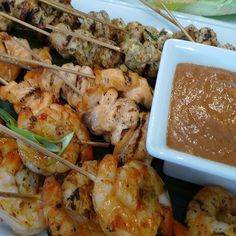 """BENNIGAN'S BAMBOO CHICKEN AND SHRIMP SKEWERS RECIPE: ~ From: """"Secret Copycat Restaurant Recipes."""" ~ Recipe Courtesy Of: """"BENNIGAN'S IRISH PUB."""" ~ Make our Bennigan's Bamboo Chicken and Shrimp Skewers Recipe at home tonight for your family. With our Secret Restaurant Recipe your Chicken and Shrimp Skewers will taste just like Bennigan's."""