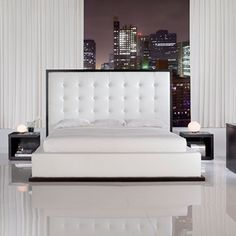 Luxury white Spring Bed bedroom interior design - Interior Design | Exterior Design | Office Design | Home Design