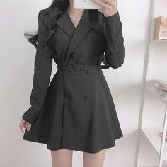 Korean Fashion Dress, Ulzzang Fashion, Kpop Fashion Outfits, Girls Fashion Clothes, Korean Outfits, Cute Casual Outfits, Stylish Outfits, Skater Fashion, Clothes Women