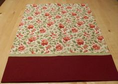 Pillowcase featuring burgundy flowers and green leaves fabric by JamesRiverCrafts on Etsy