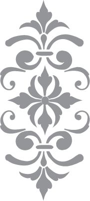 Glass etching stencil of Fleur de Lis. In category: Fleur de Lis